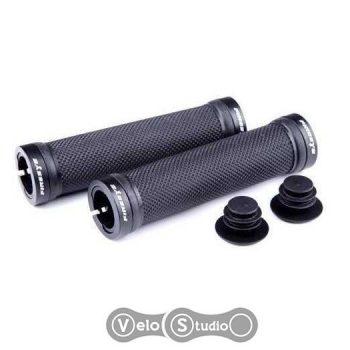 Грипсы FireEye Goosebumps-R 128 мм с замками чёрные
