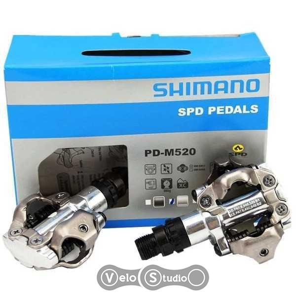 Педали Shimano PD-M520 серебро