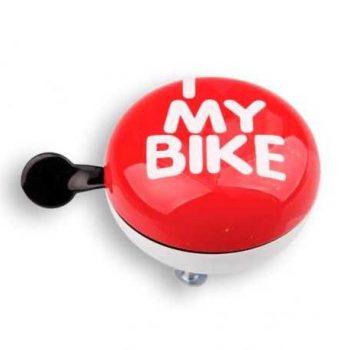 Звонок Green Cycle I Love My Bike красный