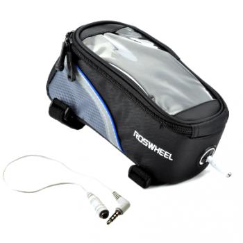 Сумка на раму Roswheel для смартфона 5,5 дюйма черно-синяя