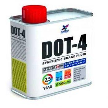 Тормозная жидкость ХАДО DOT-4 синтетическая 500 мл