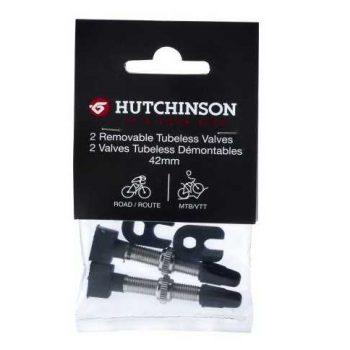 Бескамерный ниппель Hutchinson 42 мм 2 штуки с ключом