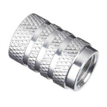Колпачок алюминиевый на ниппель Schrader хром