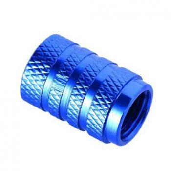Колпачок алюминиевый на ниппель Schrader синий
