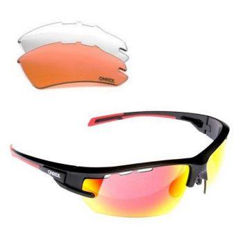 Очки Onride Lead чёрные матовые сменные линзы, UV400