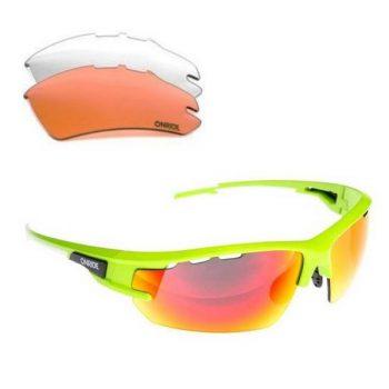 Очки Onride Lead зелёные матовые сменные линзы, UV400