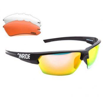 Очки Onride Spok черные матовые сменные линзы, UV400