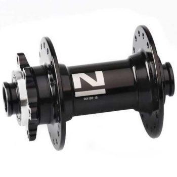 Втулка передняя Novatec D041SB под 15 мм ось 32 спицы чёрная