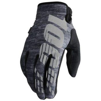 Перчатки RIDE 100% BRISKER Cold Weather зимние Gray