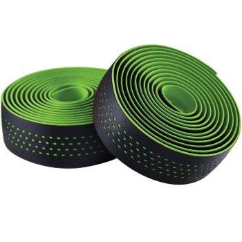 Обмотка руля Merida чёрная - зелёная качественная лента руля