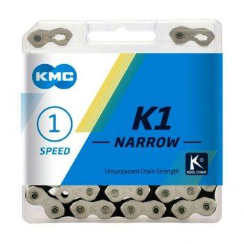 Цепь KMC K1-N односкоростная 112 звеньев + замок, цена