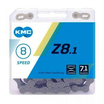 Цепь KMC Z8.1 7- 8 скоростей 116 звеньев + замок