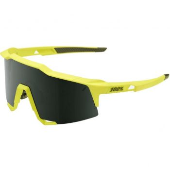 Велосипедные очки Ride 100% Speedcraft — Soft Tact Banana — Grey Green Lens