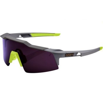 Велосипедные очки Ride 100% Speedcraft — Soft Tact Midnight Mauve — Purple Lens