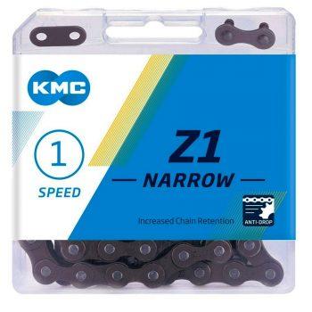 Цепь KMC Z1 Narrow Single-Speed 112 звеньев + замок