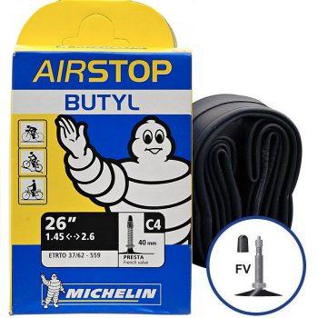 Камера велосипедная Michelin Butil A4 26 1.45-2.6 Presta 40 мм