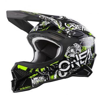 Шлем ONeal 3SRS Helmet Attack 2.0 Black/Neon