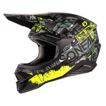 Шлем ONeal 3SRS Helmet Ride Black/Neon