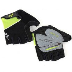 Вело перчатки X17 XGL-511GR лайм-черные
