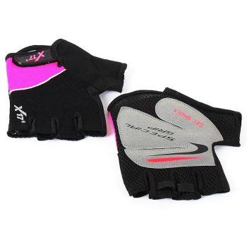 Вело перчатки X17 XGL-511PI розово-черные