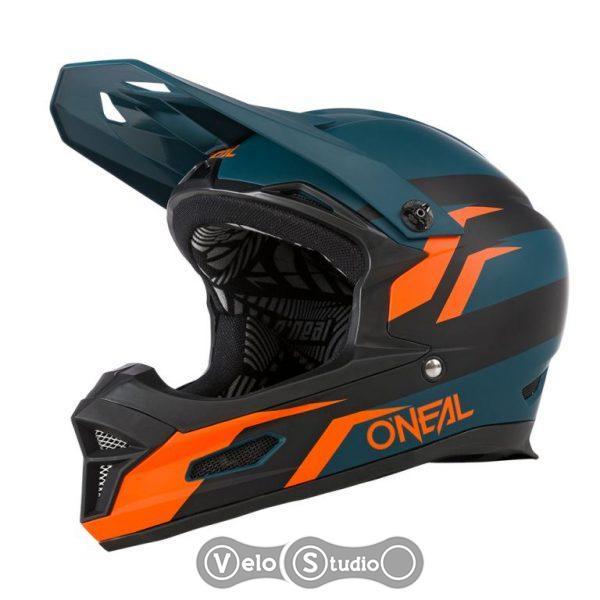 Вело шлем ONeal Fury Fullface Stage Petrol/Orange