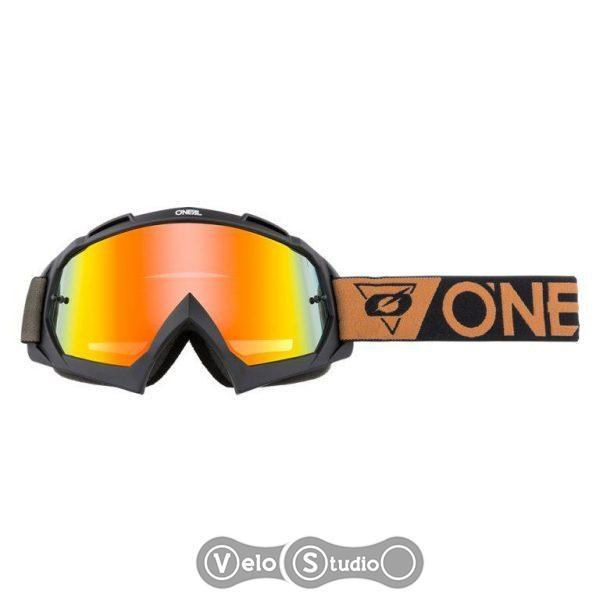Очки-маска O`NEAL B-10 Goggle SpeedMetal Brown Radium Red