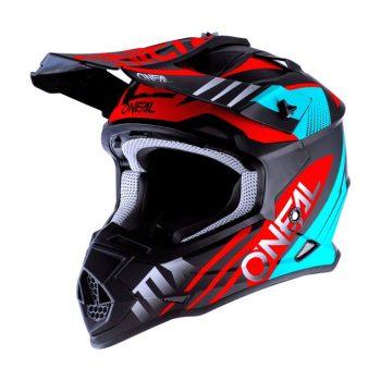 Шлем O`Neal 2SRS Helmet Spyde 2.0 Black/Teal/Red
