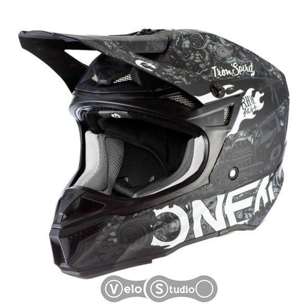 Шлем ONeal 5SRS Polyacrylite HR Black/White