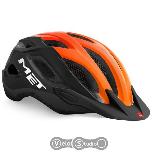 Вело шлем MET Crossover Black Orange