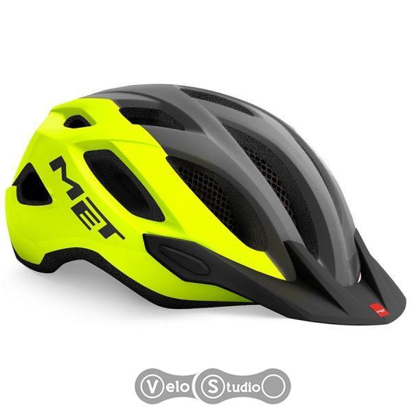 Вело шлем MET Crossover Fluo Yellow Gray