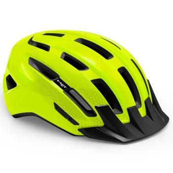 Вело шлем MET Downtown Fluo Yellow Glossy