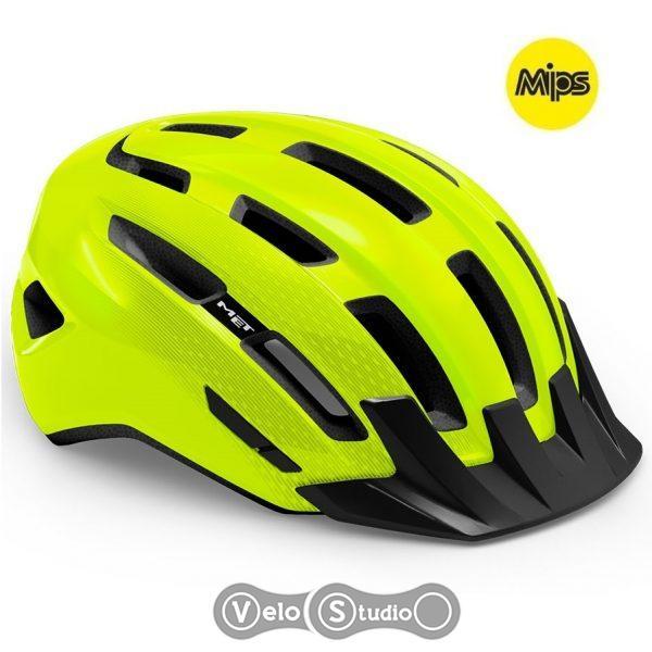 Вело шлем MET Downtown MIPS Fluo Yellow