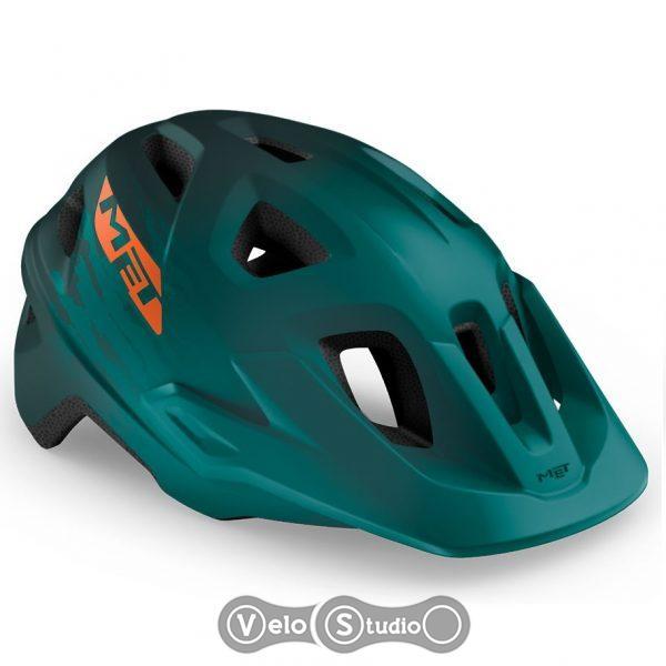 Вело шлем MET Echo Alpine Green Orange