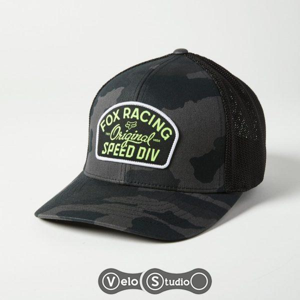 Кепка FOX OG Camo Flexfit Hat Camo Black L/XL