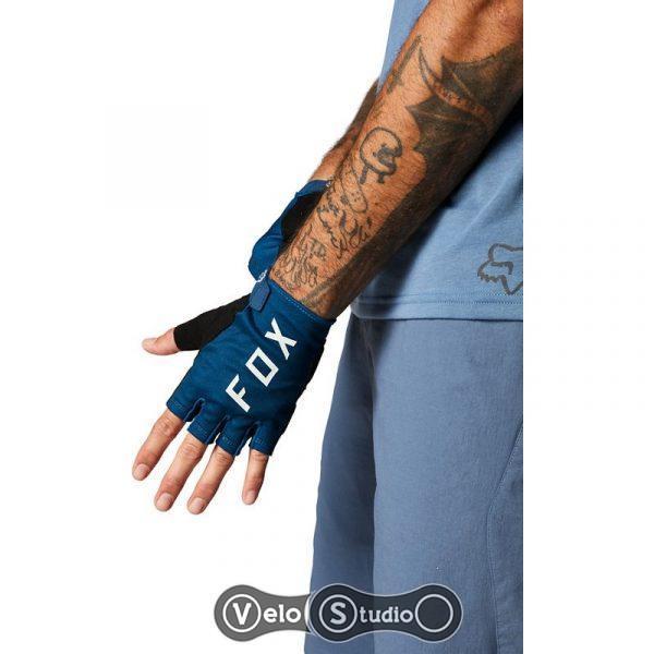 Вело перчатки FOX Ranger Gel Short Matte Blue M