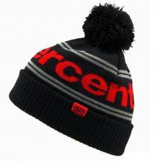 Зимняя шапка Ride 100% RISE Cuff Beanie Pom Black Red
