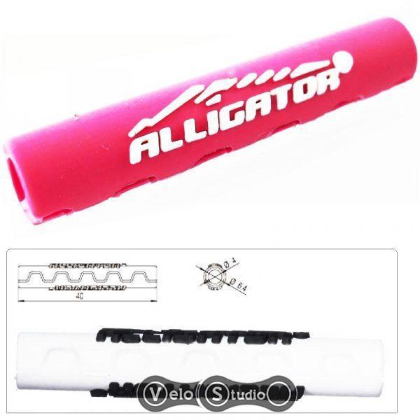 Защита рамы Alligator Sawtooth от трения рубашек розовая