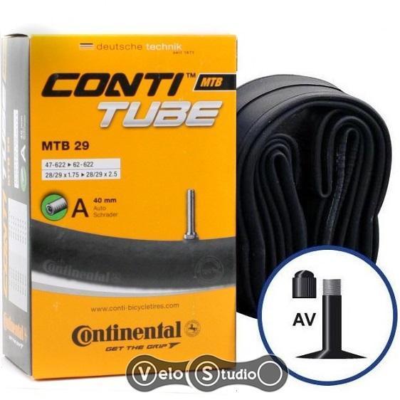 Камера велосипедная Continental MTB 29x1.75-2.5 AV 40 мм