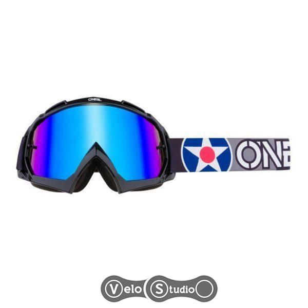 Очки-маска O`Neal B-10 Goggle Warhawk Black Gray Radium