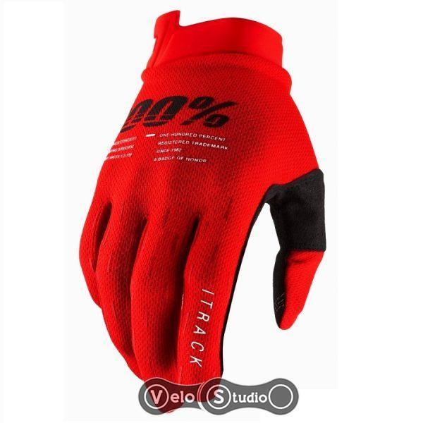 Вело перчатки Ride 100% iTRACK Red