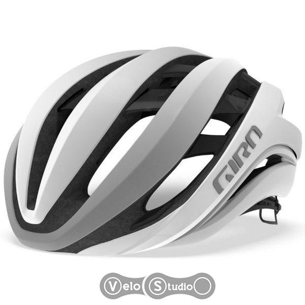 Вело шлем Giro Aether MIPS матовый белый/серебристый