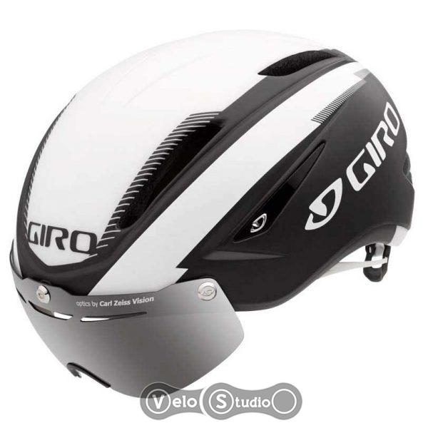 Вело шлем Giro Air Attack Shield матовый черный/белый