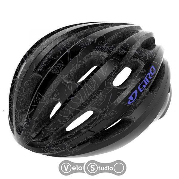 Вело шлем Giro Isode черный/цветочный