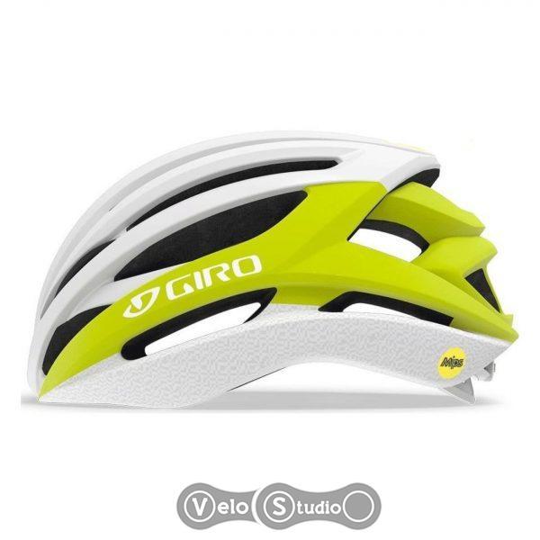 Вело шлем Giro Syntax MIPS белый матовый/желтый