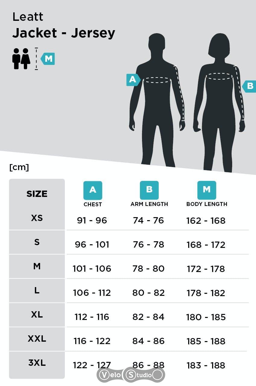 Размерная сетка куртки Leatt