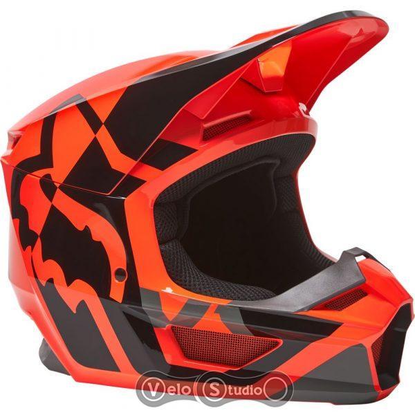 Мотошлем FOX V1 Mips Lux Flo Orange