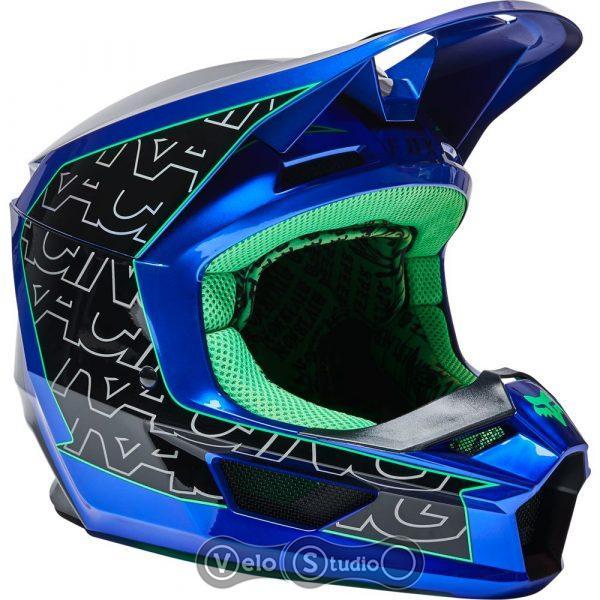 Мотошлем FOX V1 Mips Peril Blue