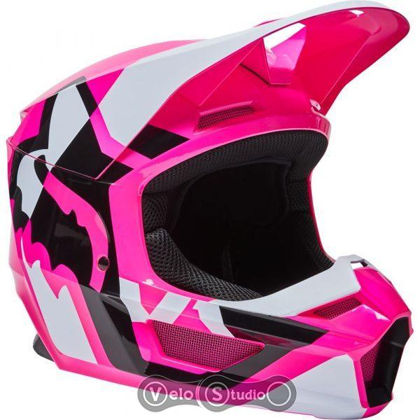 Женский мотошлем FOX V1 Mips Lux Pink